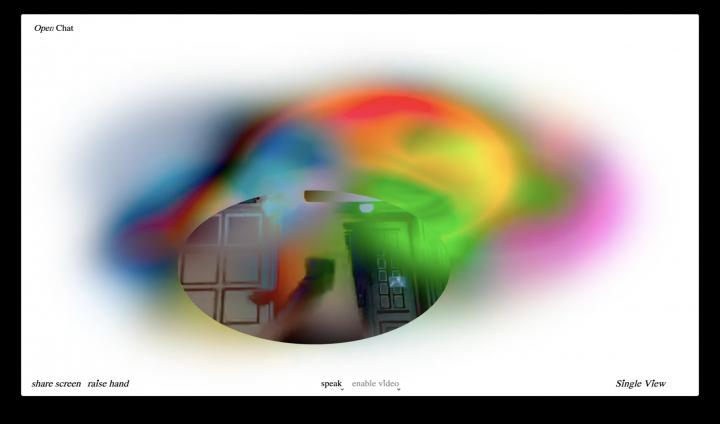 Knoth & Renner, screenshots from Commune, custom Jitsi by Klasse Digitale Grafik, 2020