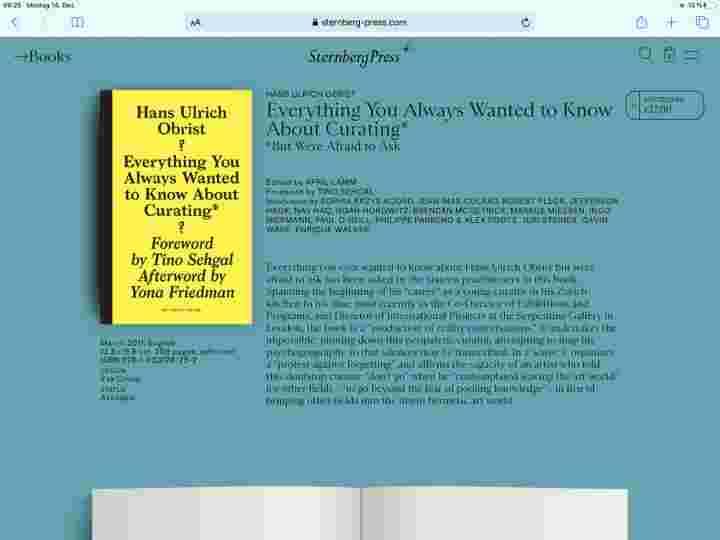 Knoth & Renner, sternberg-press.com on iPad, 2020